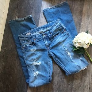 "Big Star | Casey 34"" Inseam Distressed Jeans"